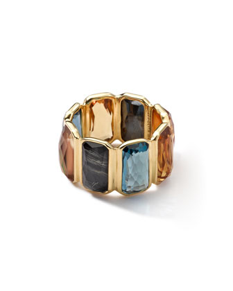 18k Gold Rock Candy Gelato Multi-Stone Band Ring