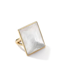 18k Gold Gelato Medium Mother-of-Pearl Baguette Ring