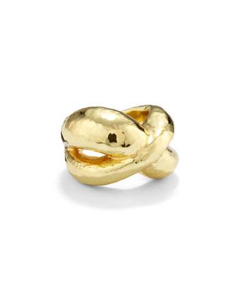 18k Gold Glamazon Criss Cross Ring