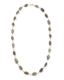Sueno Labradorite Bead Necklace, 36