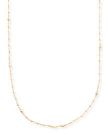 14k Gold-Beaded Station Necklace, 34