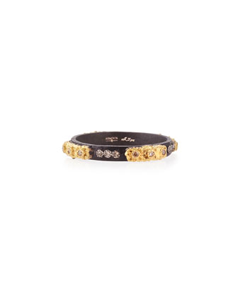 Stackable Ring with Champagne Diamonds