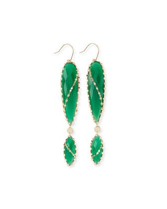 Envy Green Onyx Double-Drop Earrings