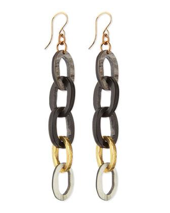 Mara Chain Earrings, Dark Horn
