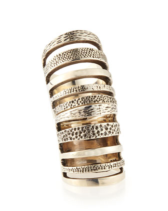 Sterling Silver Hinged Cage Ring
