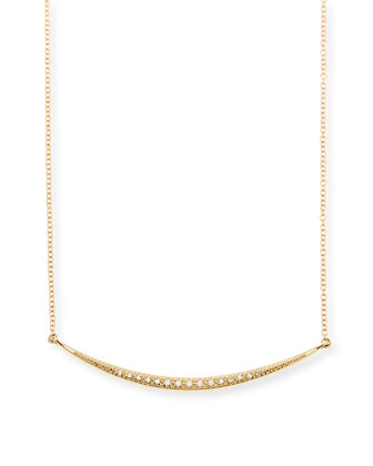 Medium Horizontal Icicle Necklace with Diamonds