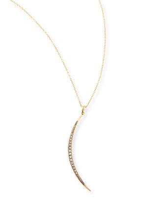 New Medium Crescent Necklace with Diamonds