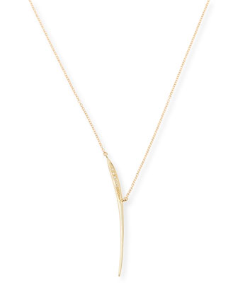 Icicle Slice Necklace with Diamonds