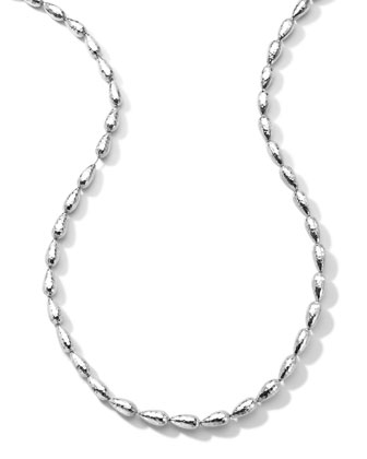 Hammered Silver Chain Necklace, 36
