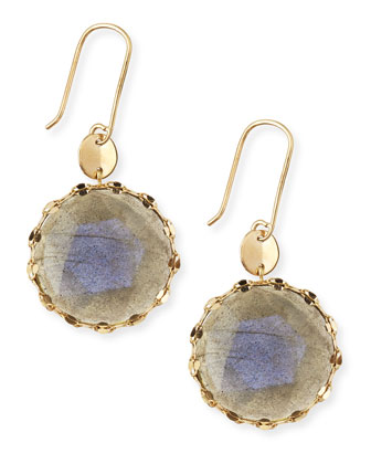 Lumos Rose-Cut Labradorite Earrings