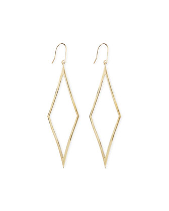 14k Gold Aura Diamond-Drop Earrings
