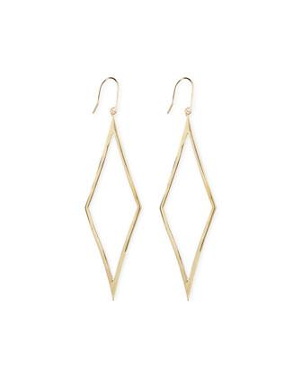 14k Gold Aura Diamond-Drop Earrings