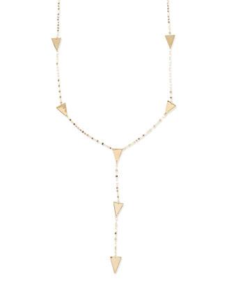 14k Gold Crush Lariat Necklace