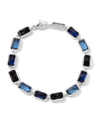 Wonderland Rectangle-Cut Quartz & Mother-of-Pearl/Pyrite Bracelet