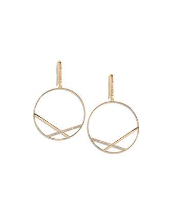 Fatale Affinity Hoop Earrings with Diamonds