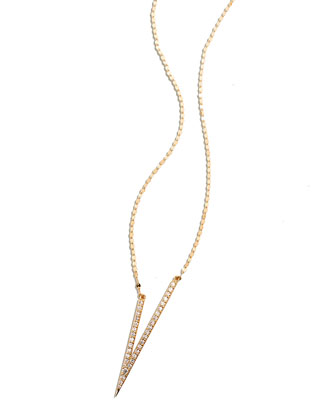 Fatale V Necklace with Diamonds