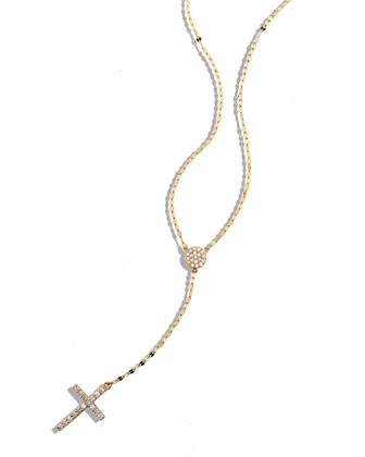 Femme Fatale Crossary Necklace with Diamonds