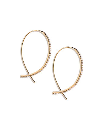 Fatale Small Hook Earrings with Diamonds