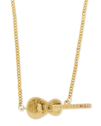 Golden Guitar Solo Necklace