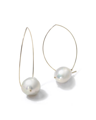 14k Gold Freshwater Pearl Earrings