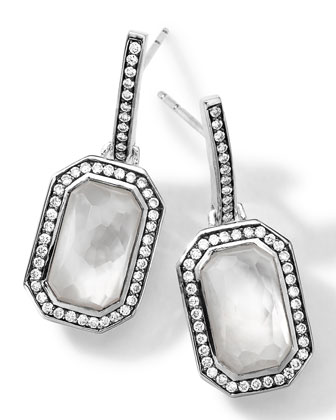 Sterling Silver Stella Mother-of-Pearl Earrings with Diamonds
