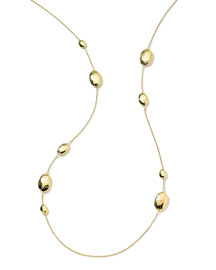 18k Gold Glamazon Multi Lollipop Station Necklace