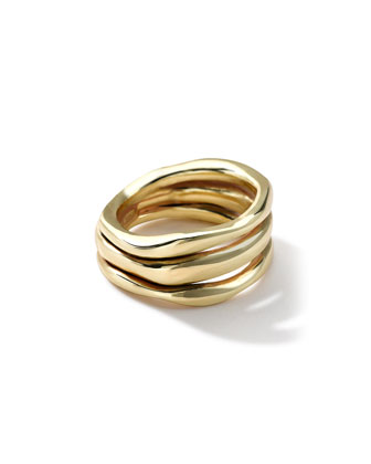 18k Gold Glamazon Triple-Squiggle Ring