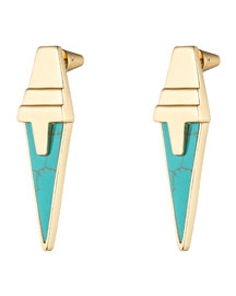 Imitation Turquoise Stud Earrings