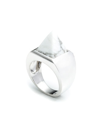 Howlite Pyramid Ring