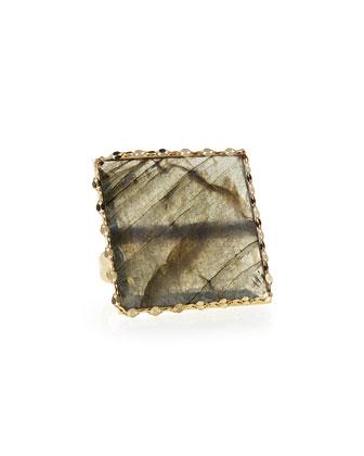 Gloss Labradorite Ring