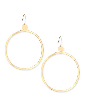 14k Gold Large Wave Hoop Earrings