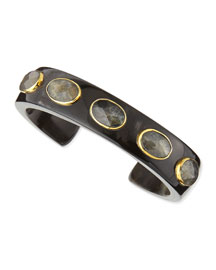 Kifari Dark Horn Cuff with Labradorite