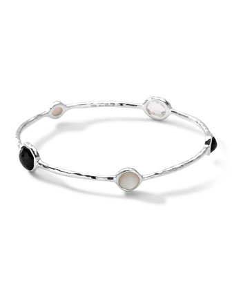 Sterling Silver Wonderland 5-Stone Bangle in Astaire
