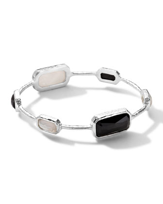 Sterling Silver Wonderland Rectangular 6-Stone Bangle in Astaire