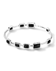 9-Stone Bangle in Black Onyx, Size 2