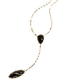 Noir 14k Lariat Necklace in Onyx