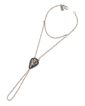 Archer Arrowhead Hand Chain, Silver-Plate