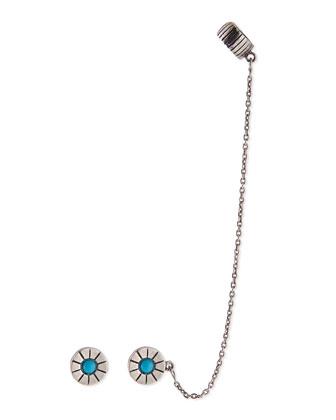 Iris Turquoise Earcuff Set