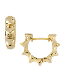Irissa Sun Hoop Earrings, Gold-Plate