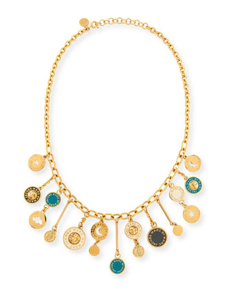Stardust Charm Necklace, Green