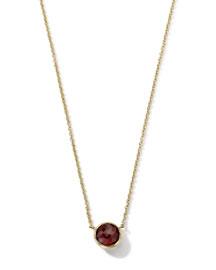 18K Gold Mini-Lollipop Birthstone Necklace (January), 16-18