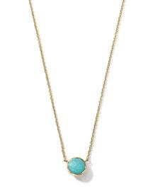 18K Gold Mini-Lollipop Birthstone Necklace (December), 16-18