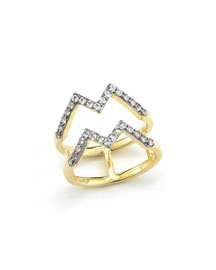 Maru 23k Gold Plated Zigzag Ring