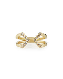 Kuril 23k Gold-Plate V-Tip Ring