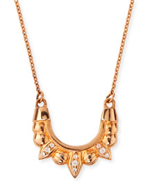 Rose Gold-Plated Mini Tribal Spike Necklace