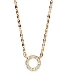 Diamond Circle Pendant Necklace