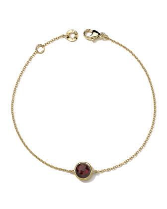 18k Gold Lollipop Bracelet in Garnet