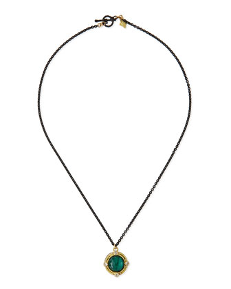 Malachite & Diamond Pendant Necklace