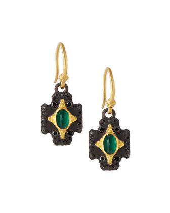 Petite Cross Drop Earrings