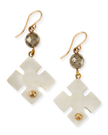 Vidogo Light Horn Clover Drop Earrings